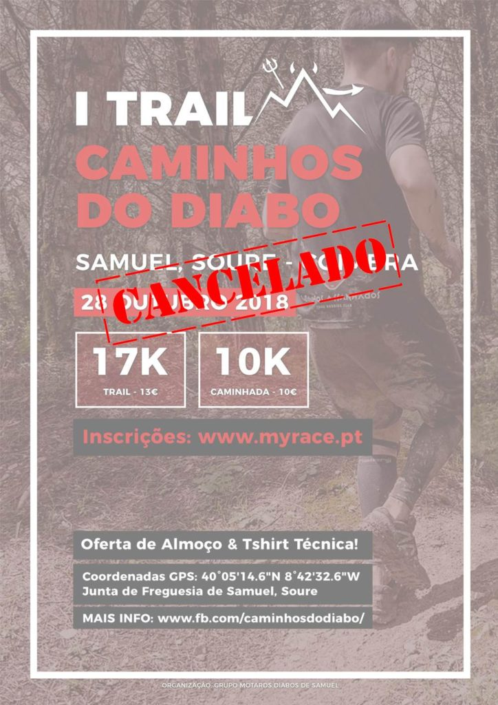 cartaz do 1 trail caminhos do diabo